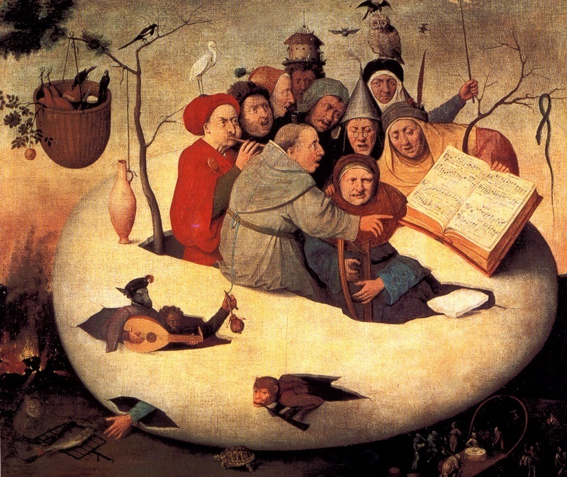 Hieronymus Bosch - the-concert-in-the-egg