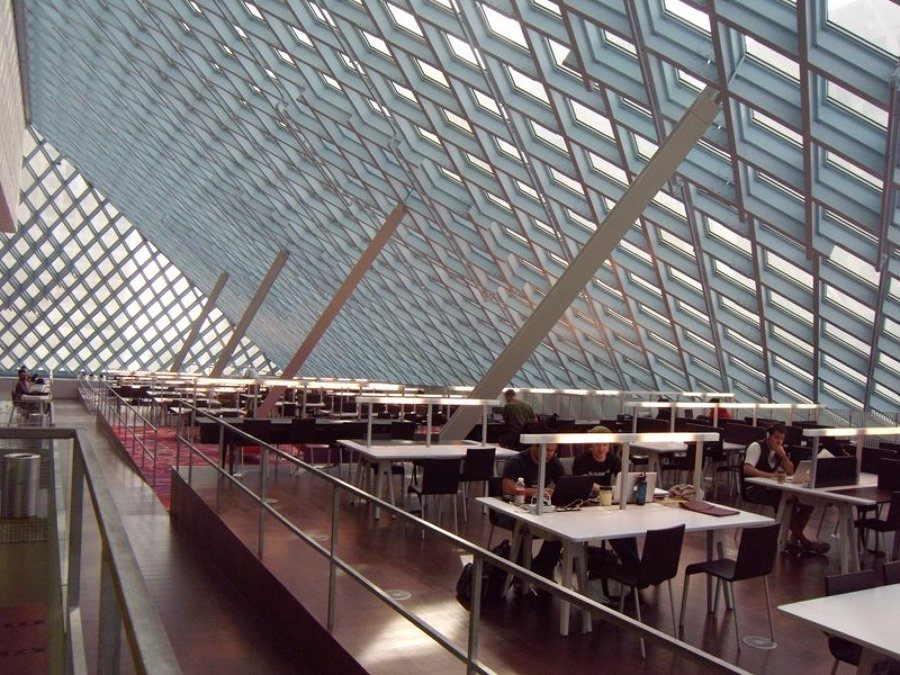 bibliotecas mais bonitas do mundo - Seattle Public Library
